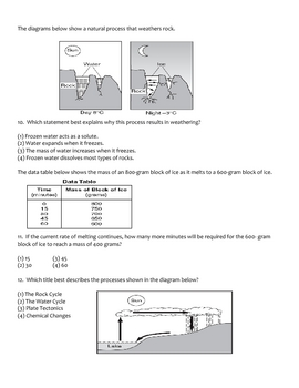 Middle School Physical Science Unit Exam - Phase Changes and Heat Transfer