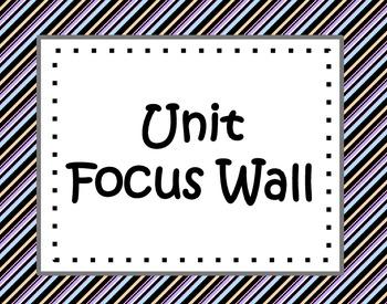 Unit Focus Wall - Black, Purple,  Orange, and Blue Stripes