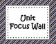 Unit Focus Wall - Black, Purple,  Orange, and Blue Stripes