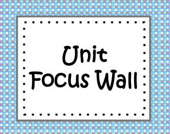 Unit Focus Wall - Blue, green, and pink polka dots