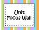 Unit Focus Wall - wavy stripes