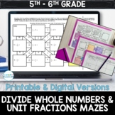 Unit Fraction Division by Whole Numbers Digital & Printabl