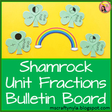Unit Fraction Shamrock Bulletin Board