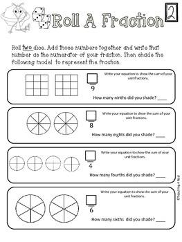 Fractions: Understanding Unit Fractions 3rd & 4th grade