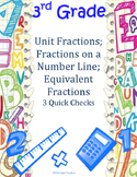 Unit Fractions, Number Line Fractions, Equivalent Fractions Quick Checks
