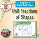Unit Fractions of Shapes: BOOM Digital Task Cards 3G
