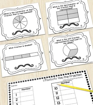 Unit Fractions of a Shape Task Cards
