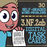 UNIT FRACTIONS ON A NUMBER LINE Task Cards ★ Google Classroom Math ★ 3rd Grade