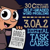 EQUAL GROUPS DIVISION Task Cards ★ 3.OA.2 ★ 3rd Grade Google Classroom Activity