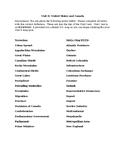 Unit II Study Guide-United States and Canada