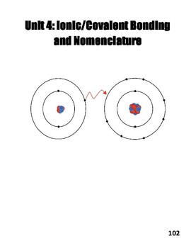 Unit IV: Bonding and Chemical Nomenclature Workbook