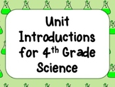 Unit Introductions for Science Journals