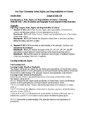 Unit Lesson Plan - Roles, Rights, & Responsibilities of US Citizens