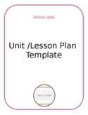 Unit / Lesson Plan Template - Editable