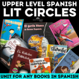 Unit: Literature Circles for Spanish class - Distance Learning