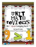 Unit Math Reviews - 1st Grade Everyday Math®