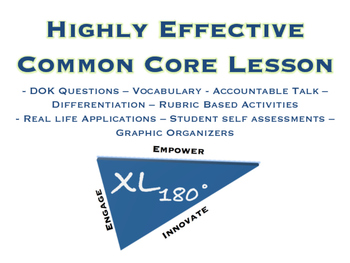 LOOK NO FURTHER, YOUR HIGHLY EFFECTIVE COMMON CORE LESSON IS HERE!