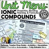 Unit Menu: Ionic Compounds