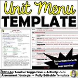 Unit Menu Template and Implementation Guide