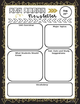 2 Unit Newsletter Templates-EDITABLE VERSION INCLUDED