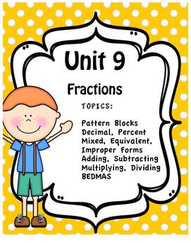 Unit Nine - Full Unit - Fractions