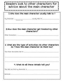 Unit Novel Study- Focus on Character