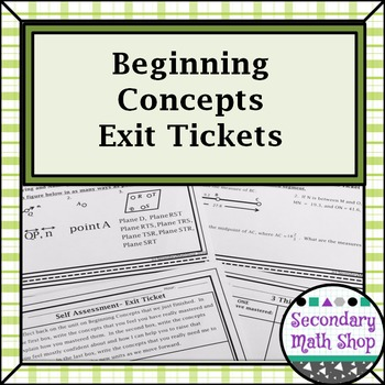 Unit One: Beginning Concepts Exit Tickets
