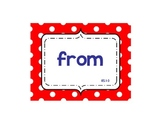 Unit One High Frequency Words (First Grade- Reading Street)