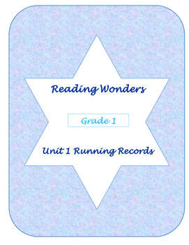 Unit One Reading Wonders Running Records