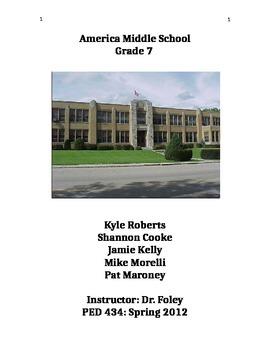 Unit Outline-Frisbee Golf Assessments and Teacher Work Sample