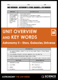 Unit Overview & Key Words - Astronomy II: Stars, Galaxies,