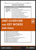Unit Overview & Key Words - Earth's History Unit