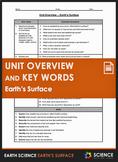 Unit Overview & Key Words - Earth's Surface Unit