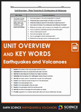 Unit Overview & Key Words - Earthquakes and Volcanoes Unit