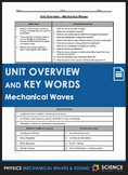 Unit Overview & Key Words - Mechanical Waves and Sound