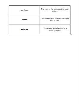Unit Overview & Key Words - Motion Unit