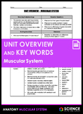 Unit Overview & Key Words - Muscular System (ADVANCED)