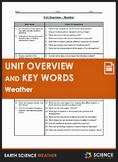 Unit Overview & Key Words - Weather Unit