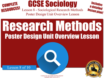 Unit Overview & Revision Lesson - Research Methods (GCSE Sociology L8/10)