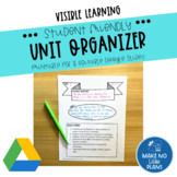 Unit Overview Template ~ Student Friendly ~ Visible Learning ~