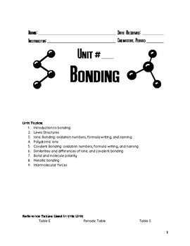 Unit Packet: Bonding