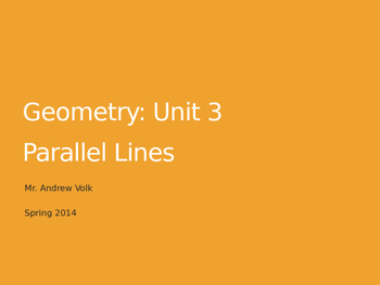 Unit: Parallel Lines and Transversals (4 big lessons!)