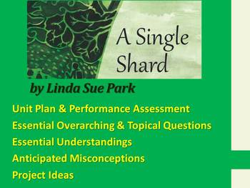 A Single Shard by Linda Sue Park - Unit Plan & Performance Assessment / Project