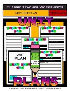 Unit Plan - Art Unit Plan - Template - Up to Four Topics