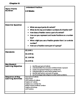 Unit Plan Chapter 8 Go Math