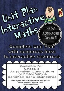 Unit Plan (Complete) Factors and Multiples Australian Curr