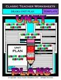Unit Plan - Drama Unit Plan - Template - Up to Six Topics