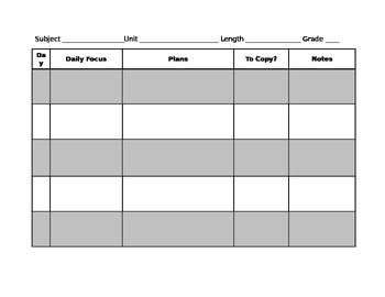 Unit Plan Guide