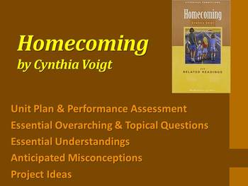 Homecoming by Cynthia Voigt - Unit Plan & Performance Assessment / Project