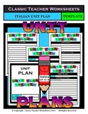 Unit Plan - Italian Unit Plan - Template - Up to Four Topics